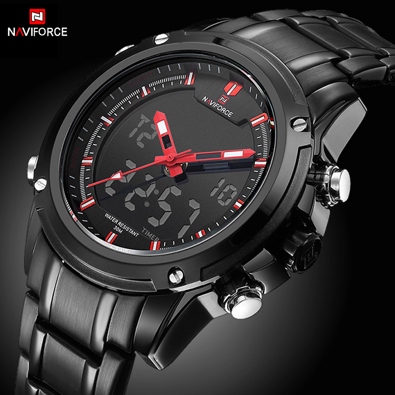 NAVIFORCE Quartz Watch Men Backlight Auto Date Display Army Outdoor Wristwatches Steel Business Multi function Relogio Masculino|masculino|masculinos relogiosmasculino watch - AliExpress