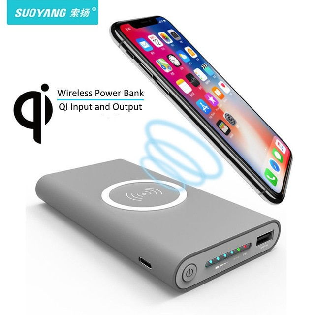 Qi Wireless Charger 20000mAh Power Bank For iPhone X 8 Plus Samsung Note 8 S9 S8 Plus S7 Portable Powerbank Mobile Phone Charger usb battery bank charger