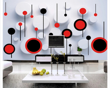цена на beibehang wallpaper for walls 3 d wallpaper any size fashion trend circle 3D TV backdrop wall papel de parede papier peint