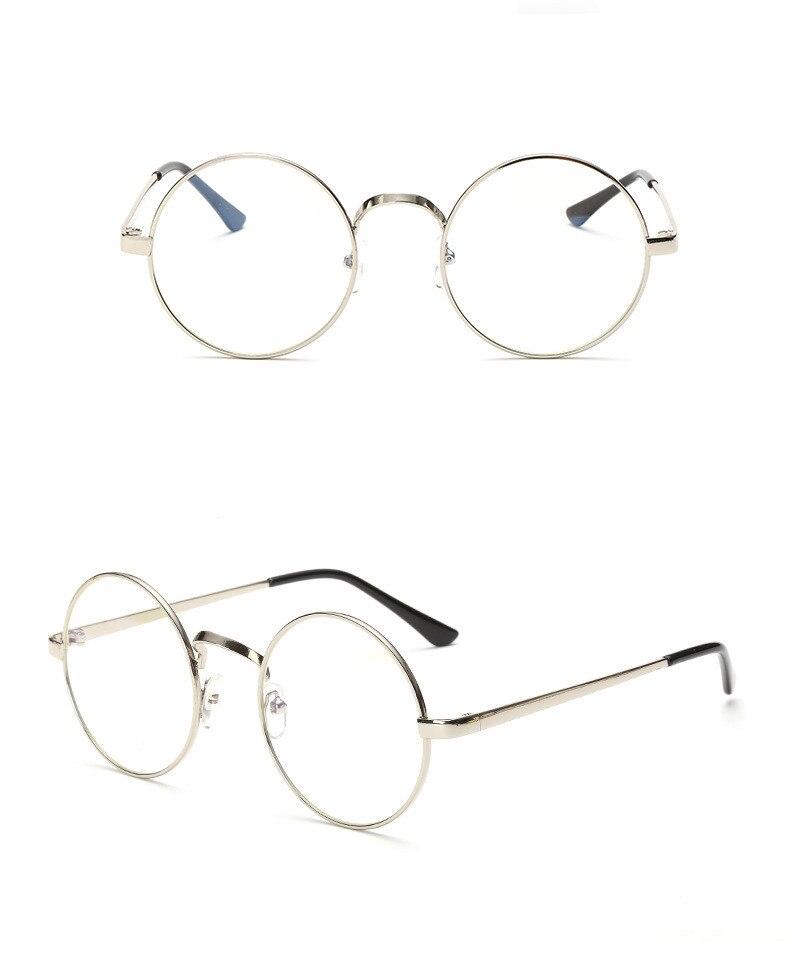 2017 NOUVEAU SM01-SM23 Modèle reconstituant des manières antiques lunettes de soleil rondes hommes rétro en métal cadre lunettes objectif clair femmes lunettes femelle