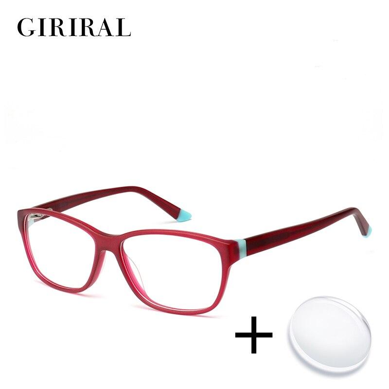 Acetate women prescription glasses vintage sight myopia computer transparent optical colored clear reading eyeglasses #BC3515