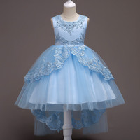So Beautiful Good Quality 2018 New Girls Kids Embroidery Princess Lace Flower Dress Comfortable Baby Clothes