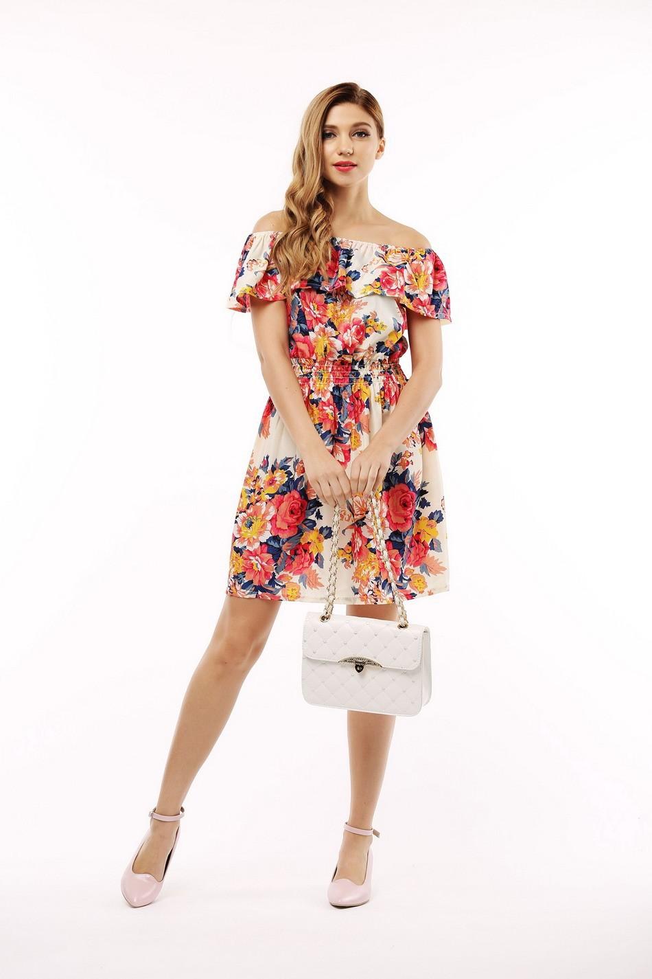 2017 fashion nowa wiosna lato plus size odzież kobiet floral print wzór sukienki na co dzień vestidos wc0472 7