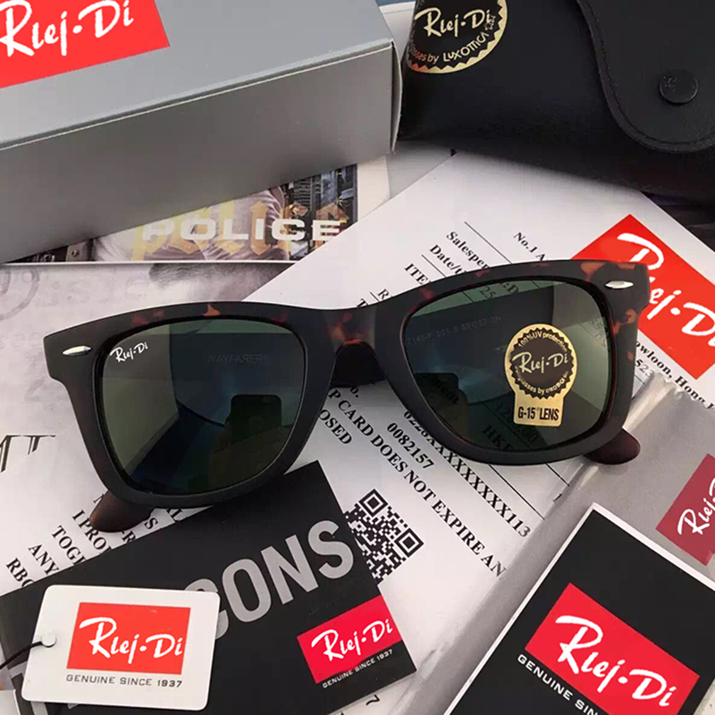 Classic Glass Lens Sunglasses Men Brand Designer 52MM Female Male Sunglasses Women Mirrors Coating Driving Sunglasses UV400 Rays