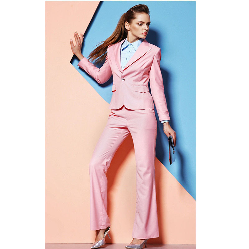 New Woman Office Suits Top and Pant Set Office Uniform Designs Womens Suits Blazer with Pants Formal Suits for Weddings Slim Fit
