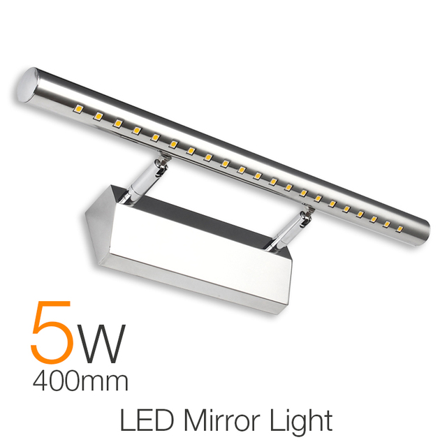 Waterproof Modern LED Bathroom Lighting 40cm 5W Vanity LED Mirror ...