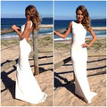 2017 New Arrival vestidos de fiesta Abrir Voltar Backless Mermaid Andar de Comprimento Longo Evening Prom Celebrity Dress Vestido da Ocasião Especial
