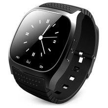 Moda Inteligente Inteligente Reloj Bluetooth M26 con Pantalla LED Reproductor de Música Podómetro Smartwatch para Android IOS Teléfono Móvil
