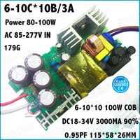2 Stks Door TUV-EMC LVD 100 W AC85-277V LED Driver 6-10Cx10B 3000mA DC18-34V Constante Stroom LED Voor Schijnwerper Gratis verzending