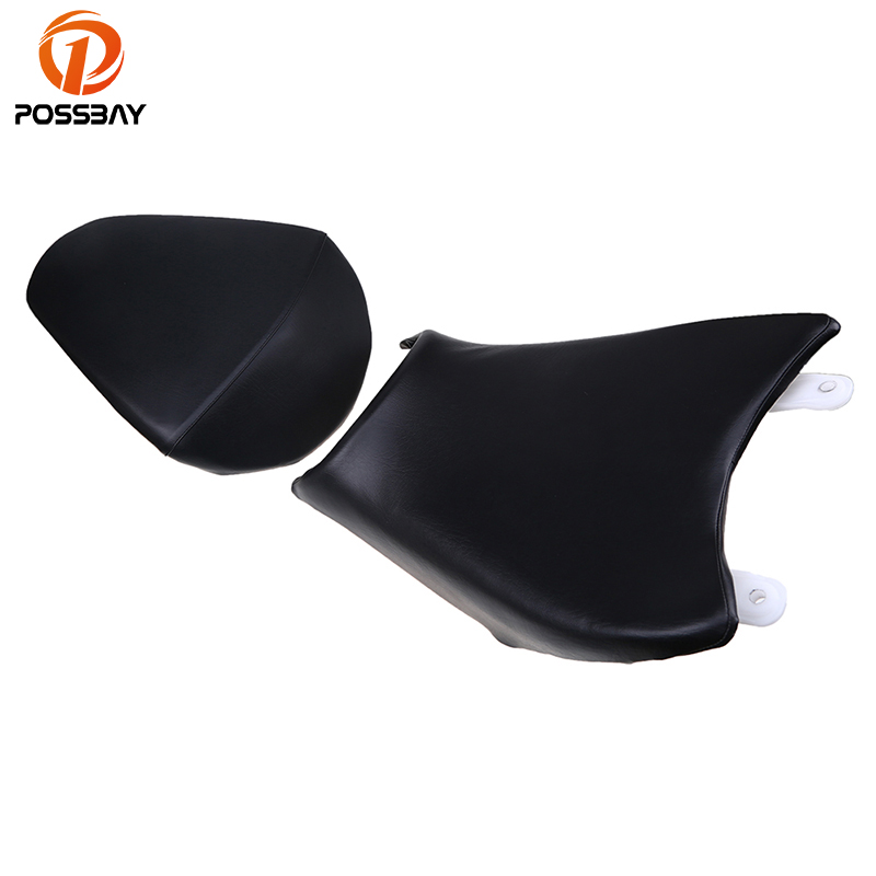 POSSBAY Motorcycle Front Driver Seat And Rear Passenger Seat Pillion Cushion for KTM 390 Motorbike Rear Passenger Seat Pad