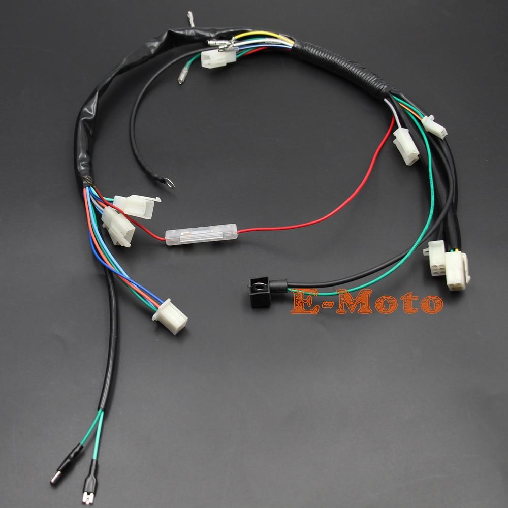 motor wiring harness pit bike 70cc 110cc 125cc lifan loncin zongshen kick start engine wiring harness [ 1000 x 1000 Pixel ]