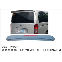 For Toyota Hiace Spoiler High Quality ABS Material Car Spoiler For Toyota Hiace Spoiler 2005 2017