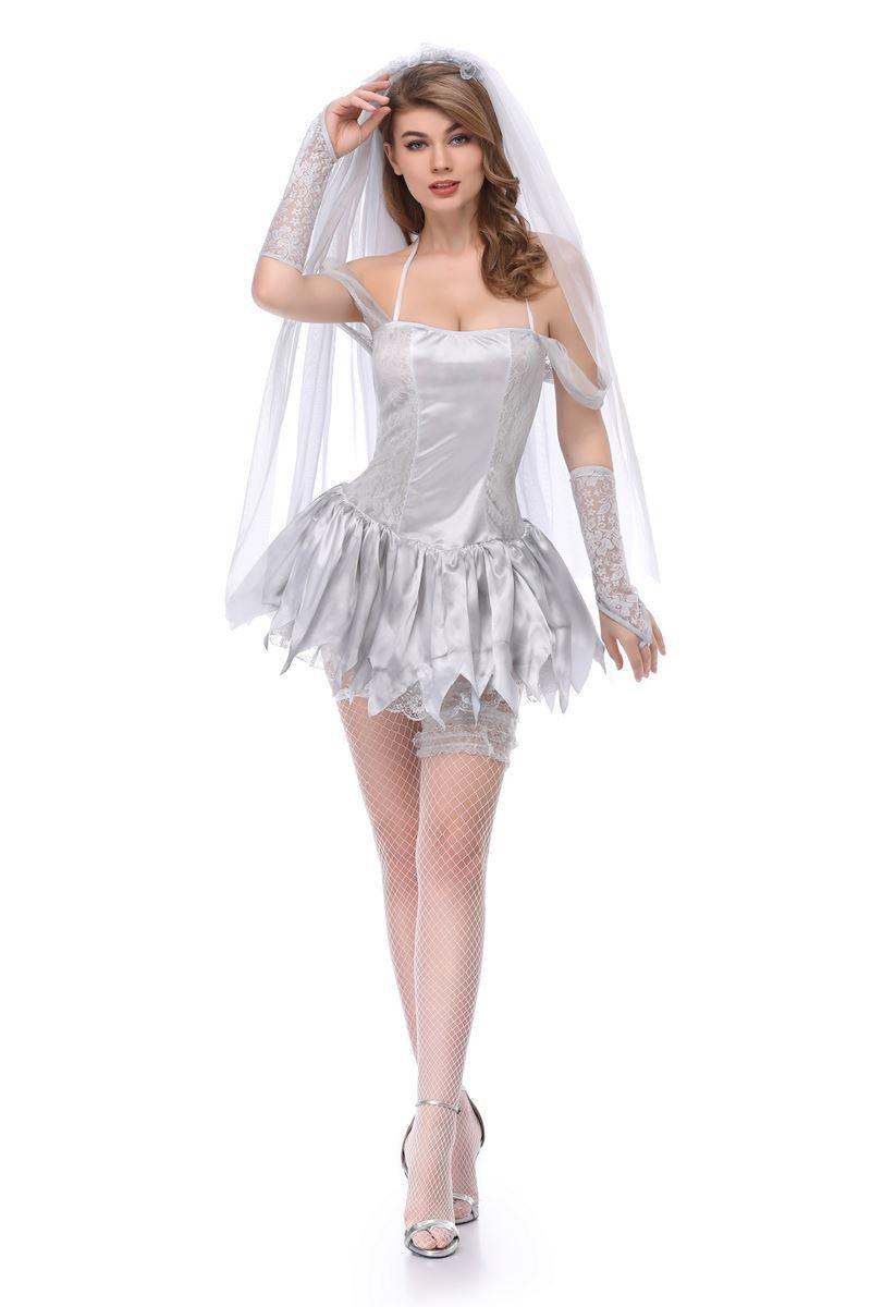 Halloween Devil Corpse Vampire Bride Costume Female Scary Fancy Dress
