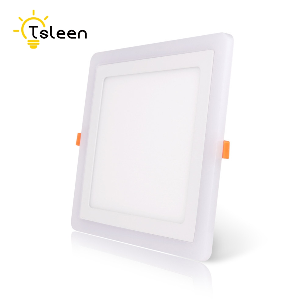 Original Tsleen Slim Recessed Ceiling Lamp 5w Led Panel Light Round Square White+rgb Gallery Parlour Lighting 3w/6w/12 W Ceiling Lights
