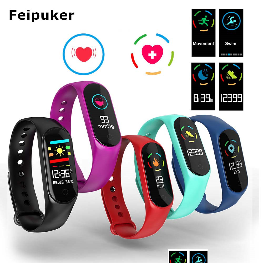 Feipuker Bluetooth M3s Smart Band Armband Blut Sauerstoff Druck Herz Rate Monitor Multi-sport Modus Armband für Android IOS