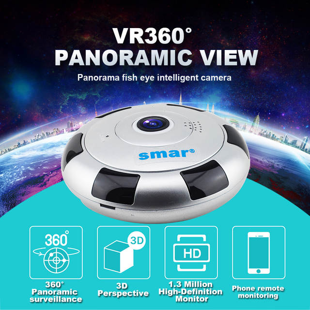 7e45fa93dcd9c placeholder Mini VR IP Camera Wireless 960P HD Smart 360 Degree Panoramic  Network CCTV Security Camera Home