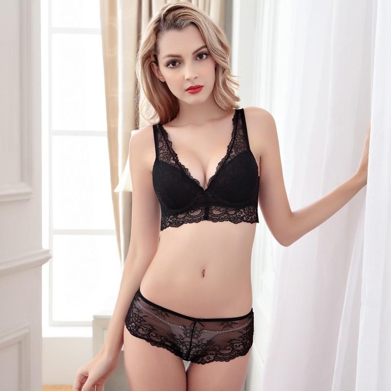 2eb3d7abe47 New Fashion Bra Briefs Sets High Quality Underwear Sets Push up Top Brand Women s  Lace Underwire