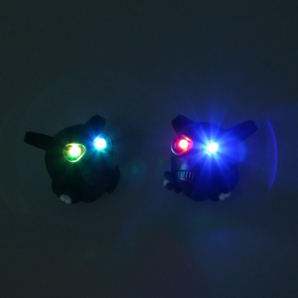 Gastfreundlich 2 Schwarz Schädel Fahrrad Sicherheit Hinterrad Led-blitz-licht-lampe W1y4 S4p6 Warnlicht AusgewäHltes Material