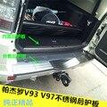 304 acier inoxydable interne + externe arrière pare-chocs protecteur seuil pour 2016-2019 Mitsubishi Pajero V93 V97 V73 voiture style