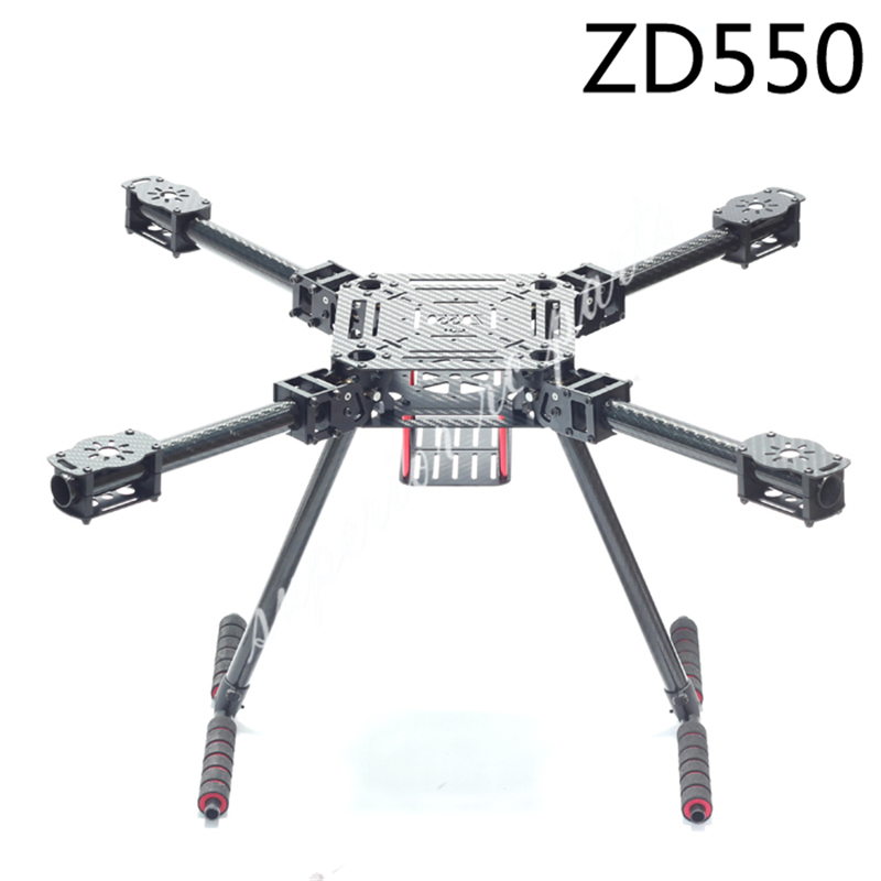 ZD550 550mm ZD680 680mm Pure Carbon Fiber Folding FPV Quadcopter Frame Kit with High Landing Gear