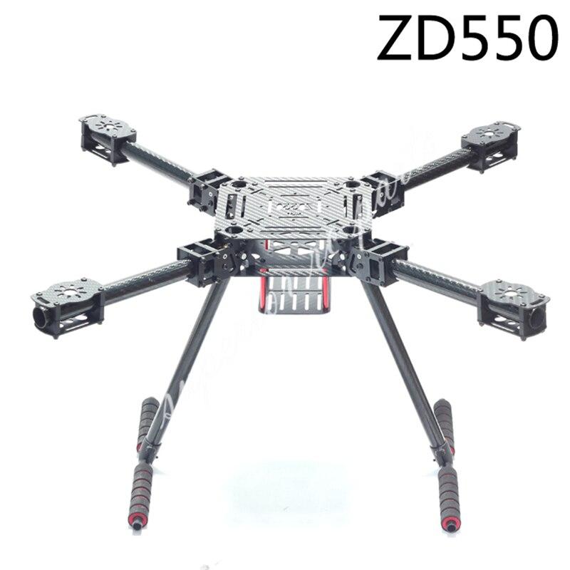 ZD550 550 millimetri ZD680 680 millimetri In Fibra di Carbonio Puro Pieghevole FPV Quadcopter Kit Telaio con Alta Landing Gear Skid-in Componenti e accessori da Giocattoli e hobby su  Gruppo 1