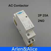 TOCT1 2 P 25A 220 V/230 V 50/60 HZ, carril Din hogar ac contactor Modular 2NO 2NC o 1NO 1NC