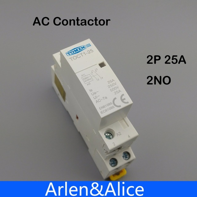 Toct1 2p 25a 220v230v 5060hz din rail household ac modular toct1 2p 25a 220v230v 5060hz din rail household ac modular contactor 2no asfbconference2016 Image collections