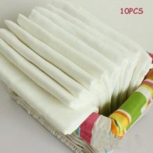 10PCS Baby Gauze Diapers Merries White Color Soft Cotton Cloth Diaper/fralda de pano Reusable Breathable Newborn Nappies 0-3Y