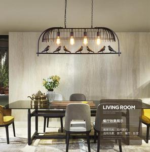 Image 4 - แสงในร่มกรงนกร้านอาหารcafe barโต๊ะศึกษาโคมระย้าย้อนยุคนกโคมระย้าระเบียง.