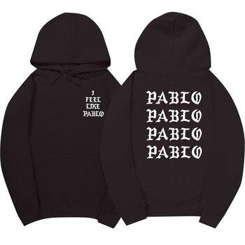 Страх Божий Павла жизни Канье Уэст Пабло балахон хип-хоп спортивный костюм толстовки тянуть Париж я чувствую Paul Pablo Спортивная