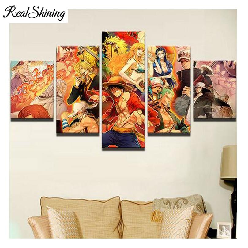 5pcs,diamond embroidery Anime Characters Canvas Fashion decor painting multi picture,diamond mosaic,5d Diamond Painting FS1237