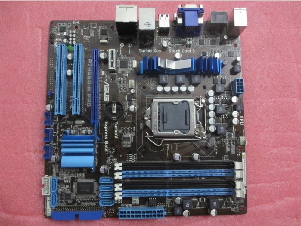 ASUS P7H55D-M PRO motherboards DDR3 LGA 1156 boardsUSB2.0 HDMI VGA DVI 16GB H55 Desktop motherboard материнская плата asus h81m r c si h81 socket 1150 2xddr3 2xsata3 1xpci e16x 2xusb3 0 d sub dvi vga glan matx