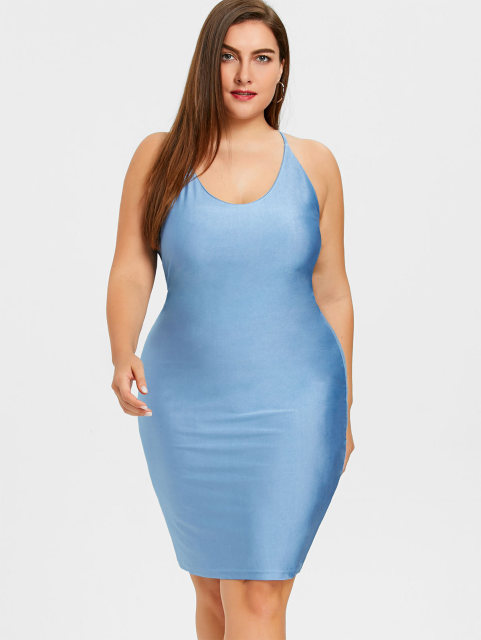 f864aeed149 Gamiss 2018 Summer Sexy Club Dress Plus Size Bodycon Cami Dress Women  Spaghetti Strap Sleeveless Midi Dresses Vestido Big Size