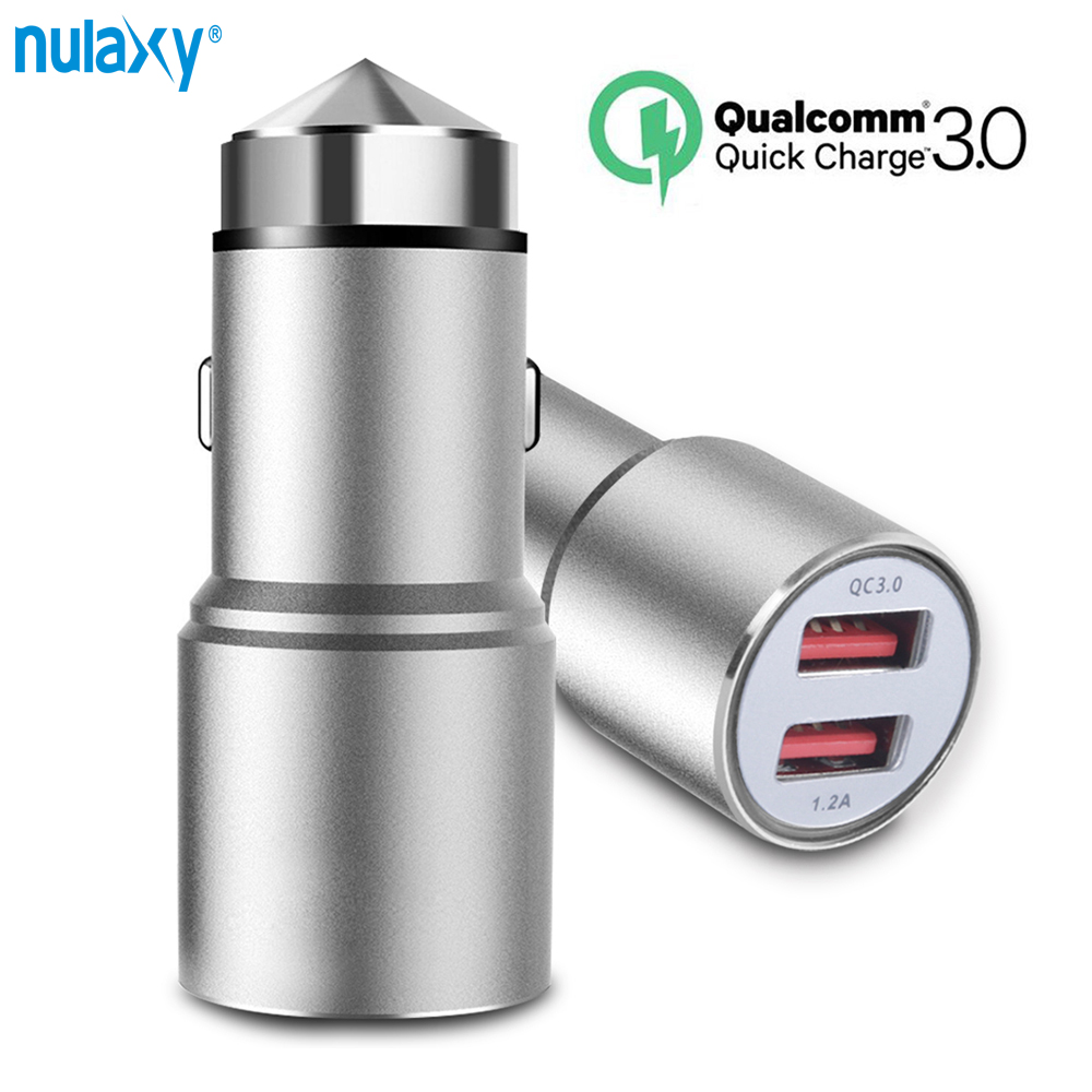 Quick Charger 3.0 USB Car Charger 2 Ports USB Charger For Samsung Huawei 24W Aluminum Alloy Fast Car-Charger For iPhone Tablet