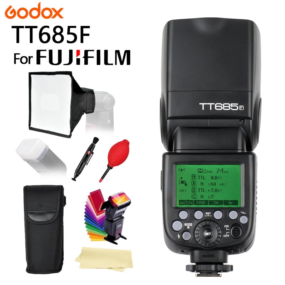 Godox TT685 TT685F Flash Speedlite 2.4G X-System 1/8000S TTL HSS for Fujifilm Fuji X-Pro2/1 X-T20 X-T2 X-T1 Camera FlashGodox TT685 TT685F Flash Speedlite 2.4G X-System 1/8000S TTL HSS for Fujifilm Fuji X-Pro2/1 X-T20 X-T2 X-T1 Camera Flash