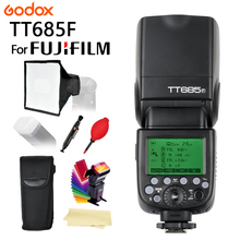 цена на In Stock Godox Speedlite TT685F for Fujifilm Camera Flash TTL HSS GN60 High Speed 1/8000S 2.4G for Fuji X-Pro2/1 X-T20 X-T2 X-T1