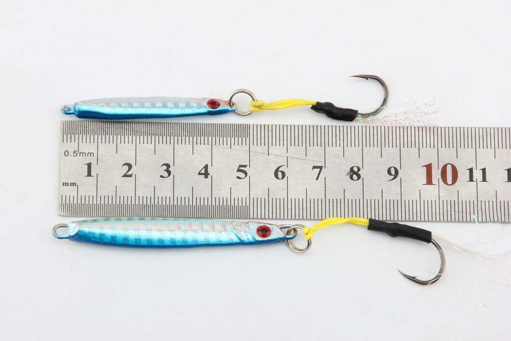 Палисандр 10 шт. мощный металлический джиг 7 г 14 г Inchiku Глубокий морской медленной шаг светящийся джиг голова приманка металлическая наживка Kingfish Snapper