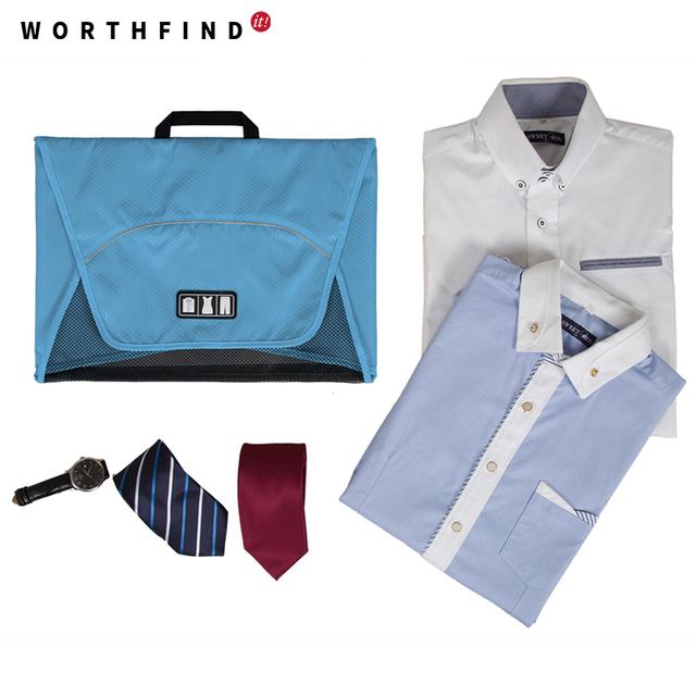 WORTHFIND 2016 Nova Viagem Saco de Pasta de Negócios Shirt Do Vestuário Embalagem Organizadores Acessórios de Viagem Organizador da Viagem Para Laços