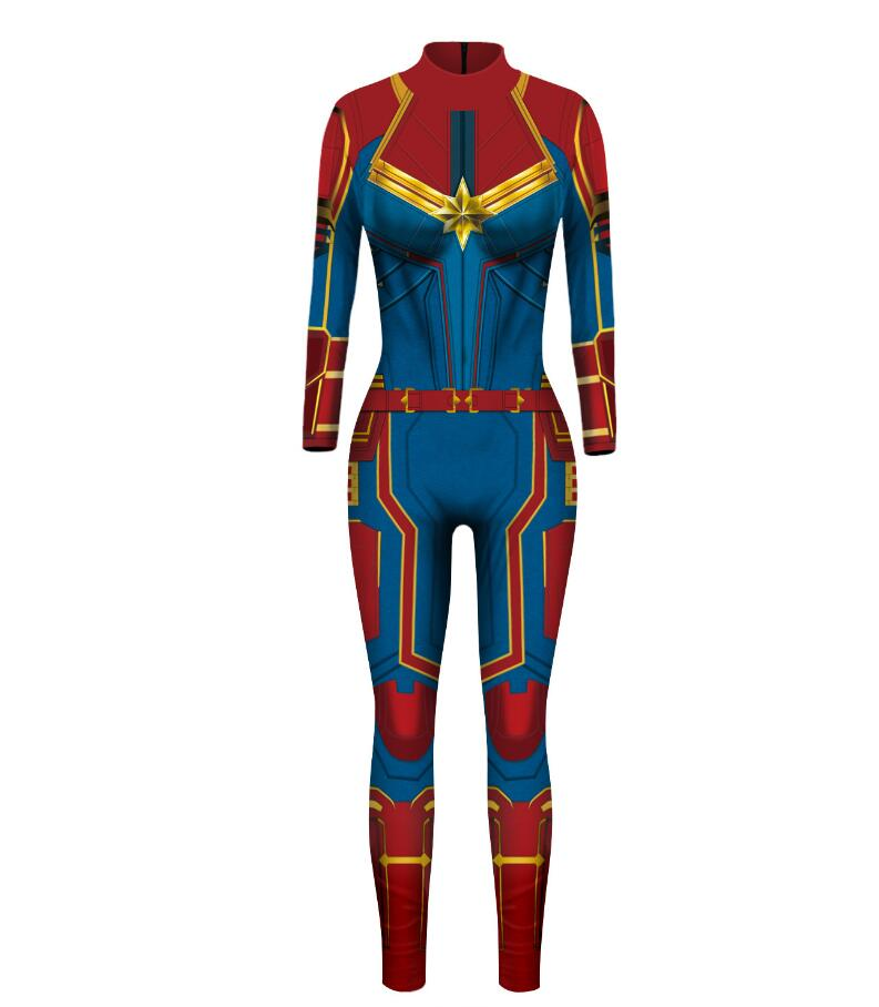 Hot Movie Ms.Marvel Captain Marvel Carol Hat Cosplay Costume Customize Halloween