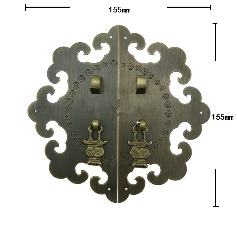 reBrass Kitchen Drawer Cabinet Door Handle Furniture Knobs Hardware Cupboard Antique Pull Handles,Bronze Tone,155mm Dia. new 2pcs lot 304 stainless steel handles hidden recessed invisible pull fire proof door handles cabinet knobs furniture hardware