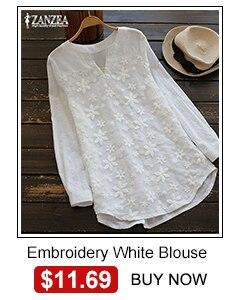 Zanzea blusa feminina jeans, camisas fashion para