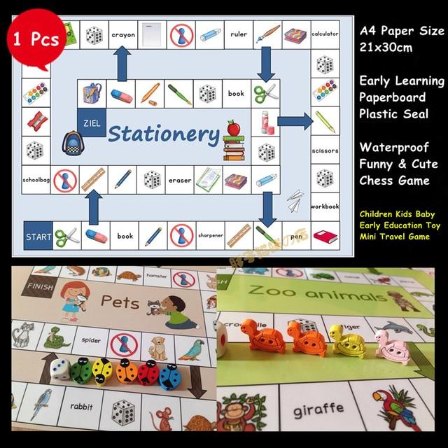 Tk Lucu Permainan Papan Awal Belajar Mainan Pendidikan Permainan