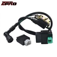 TDPRO Set Moped Ignition Coil 5 Pins CDI Rectifier Regulator For 50cc 90cc 110cc 125cc 150cc 250cc ATV Go Kart Quad Buggy Bike tdpro 12v starter motor relay solenoid motorcycle moped for gy6 90cc 110cc 125cc 250cc atv go kart buggy dirt pit bike scooter