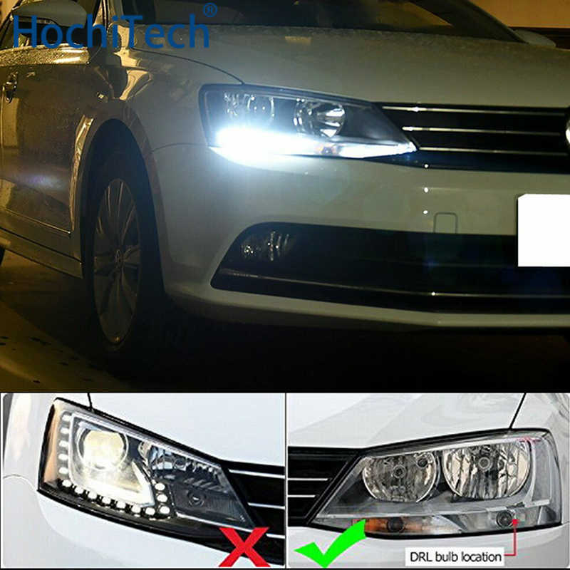 Voor Volkswagen VW Jetta MK6 2011 2012 2013 2014 2015 2016 Ultra heldere Witte Reflector 1156 S25 LED Lampen led daytime DRL Licht