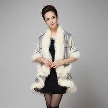 eaLAB manteau femme ponchos and capes plus size women clothing womens cloak cape coat poncho winter coat wool blend long sleeve(China)