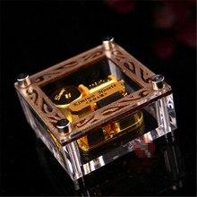 New Gold Square music box mini acrylic music box birthday gift