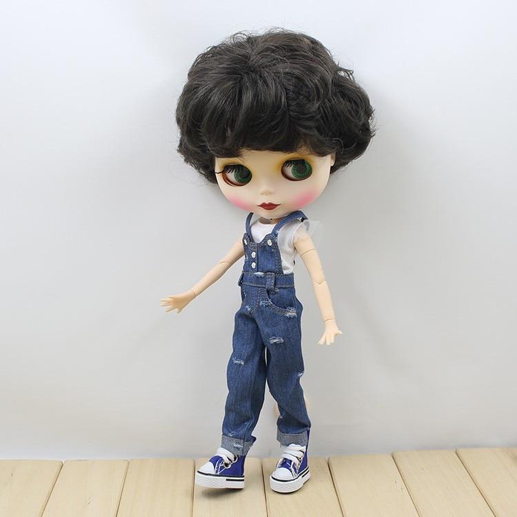 Neo Blythe Doll Denim Jumpsuit Set 3