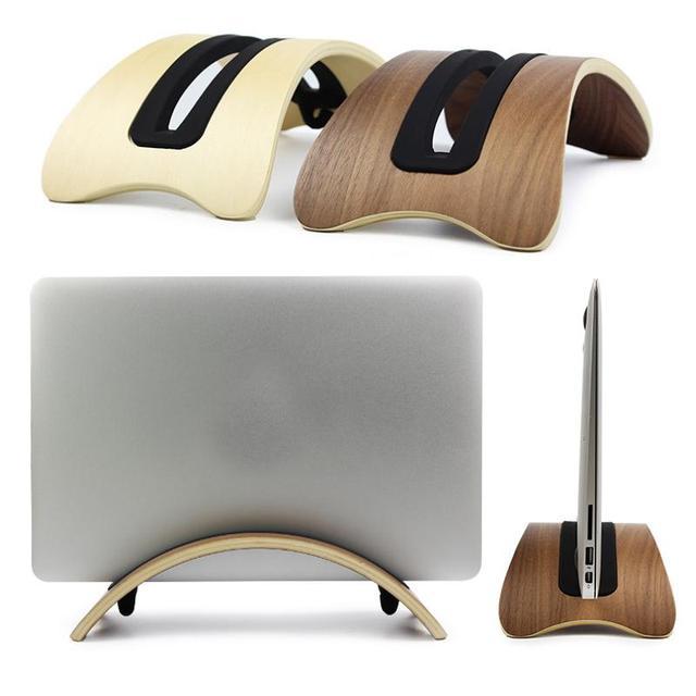 Secretária doca montar titular base stand suporte cremalheira de exposição de madeira para macbook air/pro laptop estande titular tablet