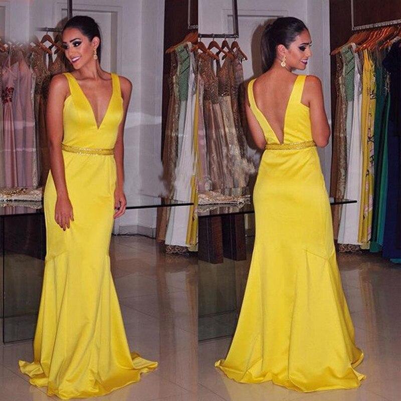 Yellow Mermaid Prom Dresses 2014 Popular Yellow ...
