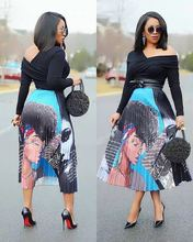 2019 stylish digital print pleated skirt with elastic detailing stylish print knot skirt for women